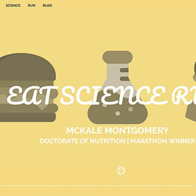 eat science run - Webby D LLC - portfolio