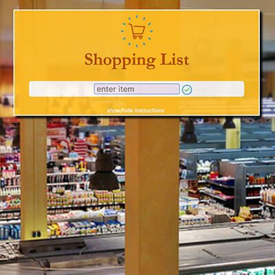 shopping list - Webby D LLC - portfolio