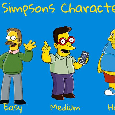 simpsons quiz - Webby D LLC - portfolio